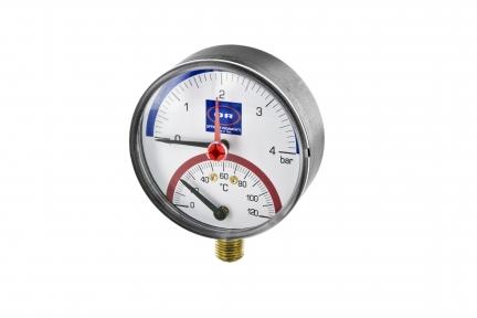 Термоманометр с радиальным присоединением и клапаном OFFICINE RIGAMONTI 0508.101 1/2