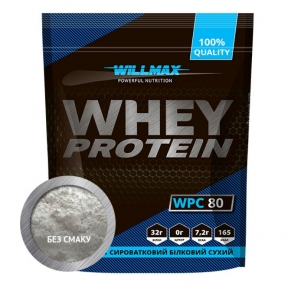 WILLMAX WHEY PROTEIN 80% Натуральный 920г