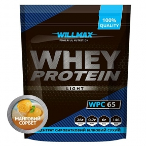 WILLMAX WHEY PROTEIN 65% 1кг Манговый Сорбет