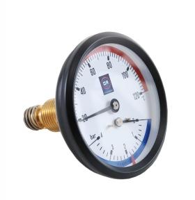 Термоманометр с тыльным присоединением и клапаном OFFICINE RIGAMONTI 0508.001 1/2