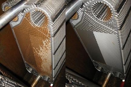 Очистка пластинчатого теплообменника