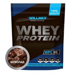 WILLMAX WHEY PROTEIN 80% Шоколад 920г
