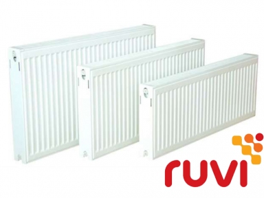 Стальной панельный радиатор Ruvi Standard 22 тип 600х400 мм (боковое подключение)