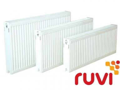 Стальной панельный радиатор Ruvi Standard 22 тип 300х1200 мм (боковое подключение)