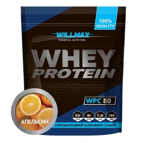 WILLMAX WHEY PROTEIN 80% Апельсин 920г